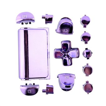 Hot Buttons Mod Kits Chrome Purple For Sony Playstation 4 PS4Gamepad Joystick - intl
