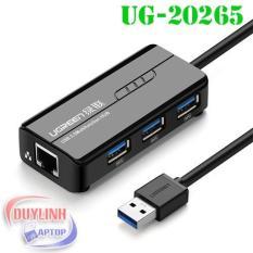 HUB chia USB 3 cổng 3.0 kèm cổng mạng LAN 10/100/1000 Mbps UGREEN CR103 20265