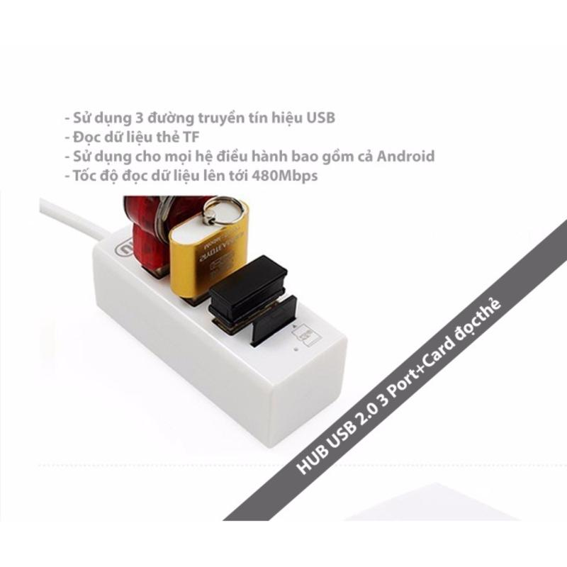 Bảng giá Hub Chia USB 3 Cổng có Card đọc thẻ  UNITEK Y-2150A (Trắng) Phong Vũ
