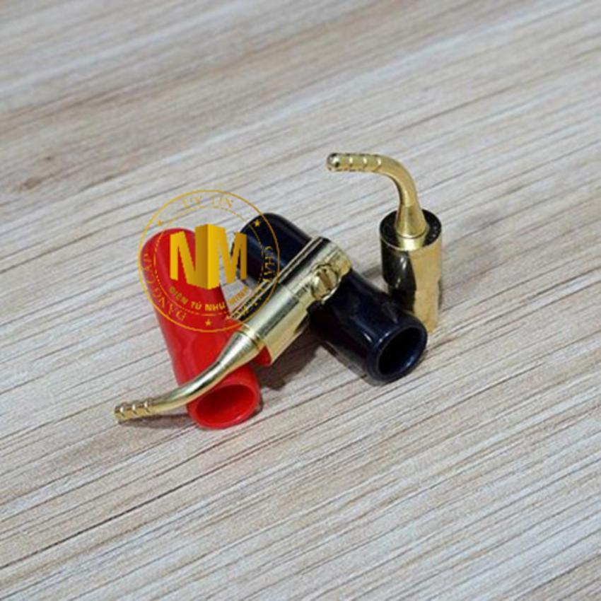 Jack loa mỏ chim mủ mềm 1 Bộ 4 cái ( 2 đỏ + 2 đen )