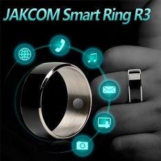 Nhẫn thông minh công nghệ JAKCOM R3 NFC cho Android IOS Windows Phone 10 # Kích Thước (màu đen)-quốc tế