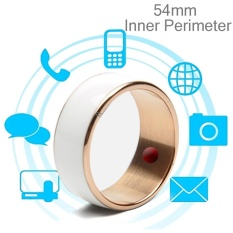 JAKCOM R3F 18K Rose Gold Smart Ring, Waterproof and Dustproof, Health Tracker, Wireless Sharing, Phone Call, Push Message, Inner Perimeter: 54mm(White) – intl