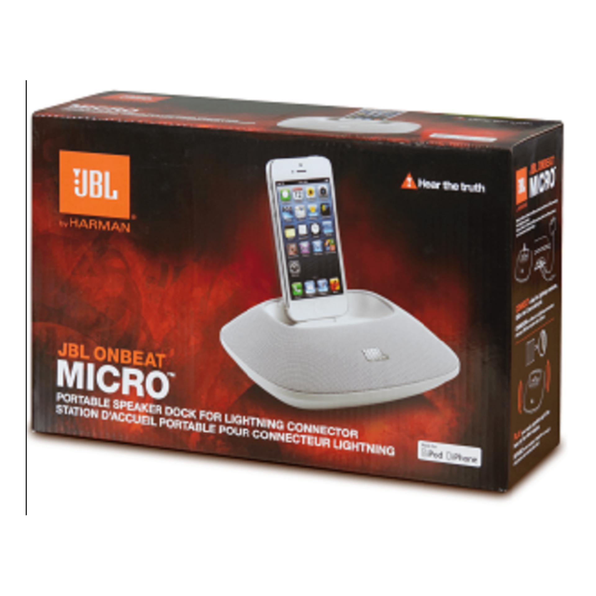 JBL OnBeat Micro Speaker Dock with Lightning Connector..