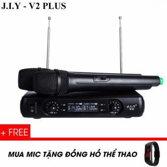 J.I.Y V2 Plus Không dây cao cấp - Mic NHẬT BẢN - Giá VIỆT NAM -Tặng ĐỒNG HỒ THỂ THAO
