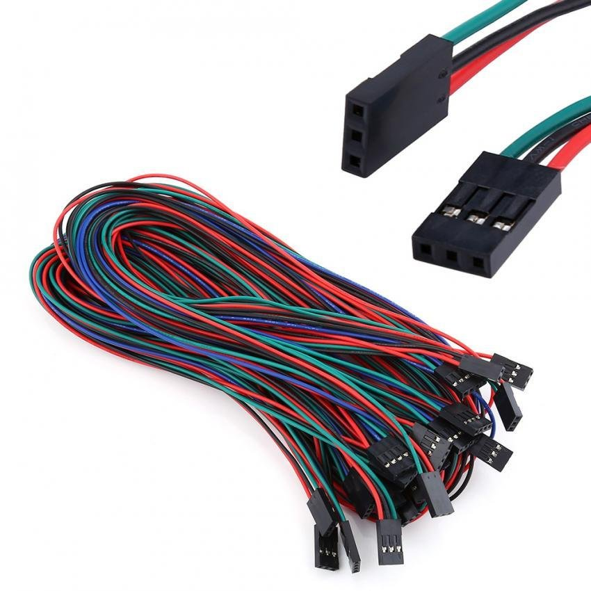 Bảng Giá Clearance Sale Justgogo 14pcs Terminal Wiring Cables for 3D Printer RAMPS 1.4 Stepper Motor Tại justgogo