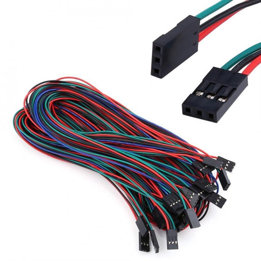 Bảng Giá Clearance Sale Justgogo 14pcs Terminal Wiring Cables for 3D Printer RAMPS 1.4 Stepper Motor Tại justgogo