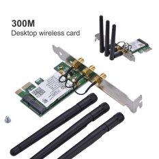 Justgogo 300Mbps 2.4G/5G Wireless Network PCI Express Adapter with 3 Antennas for Desktops – intl