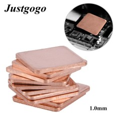 Giá Justgogo Heat Sink,10 pcs 20 * 20mm Copper Sheet Shim Piece Heat Sink Thermal Pad For GPU CPU Laptop 1.0mm Tại justgogo