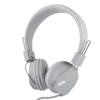 Kanen IP-852 Adjustable Headset for Smartphone (Grey) - intl