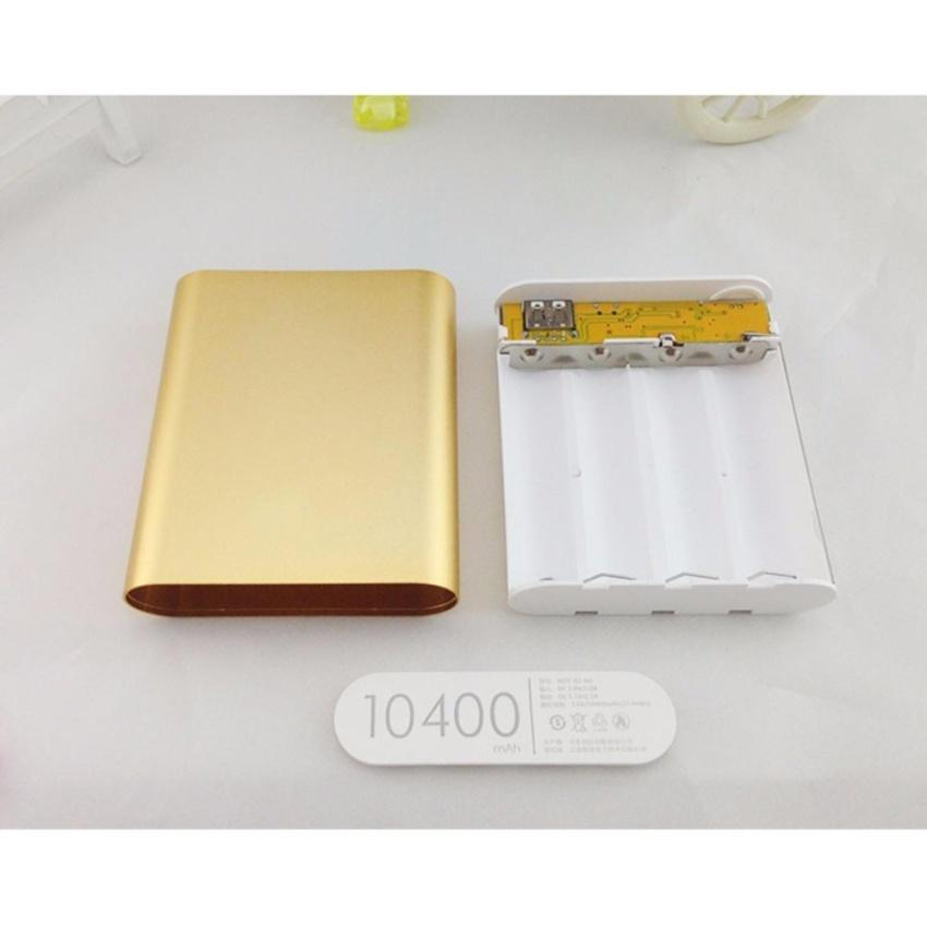 Khung 4 pin sạc dự phòng 10400mAh dùng pin laptop 18650 (Bạc)