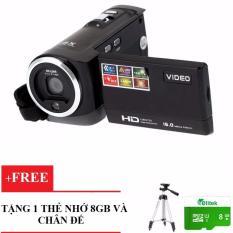 (Khuyến Mãi)_Combo Máy Quay Phim ELITEK HD Digital Video 16X+ Chân Đế+ Thẻ Nhớ 8GB