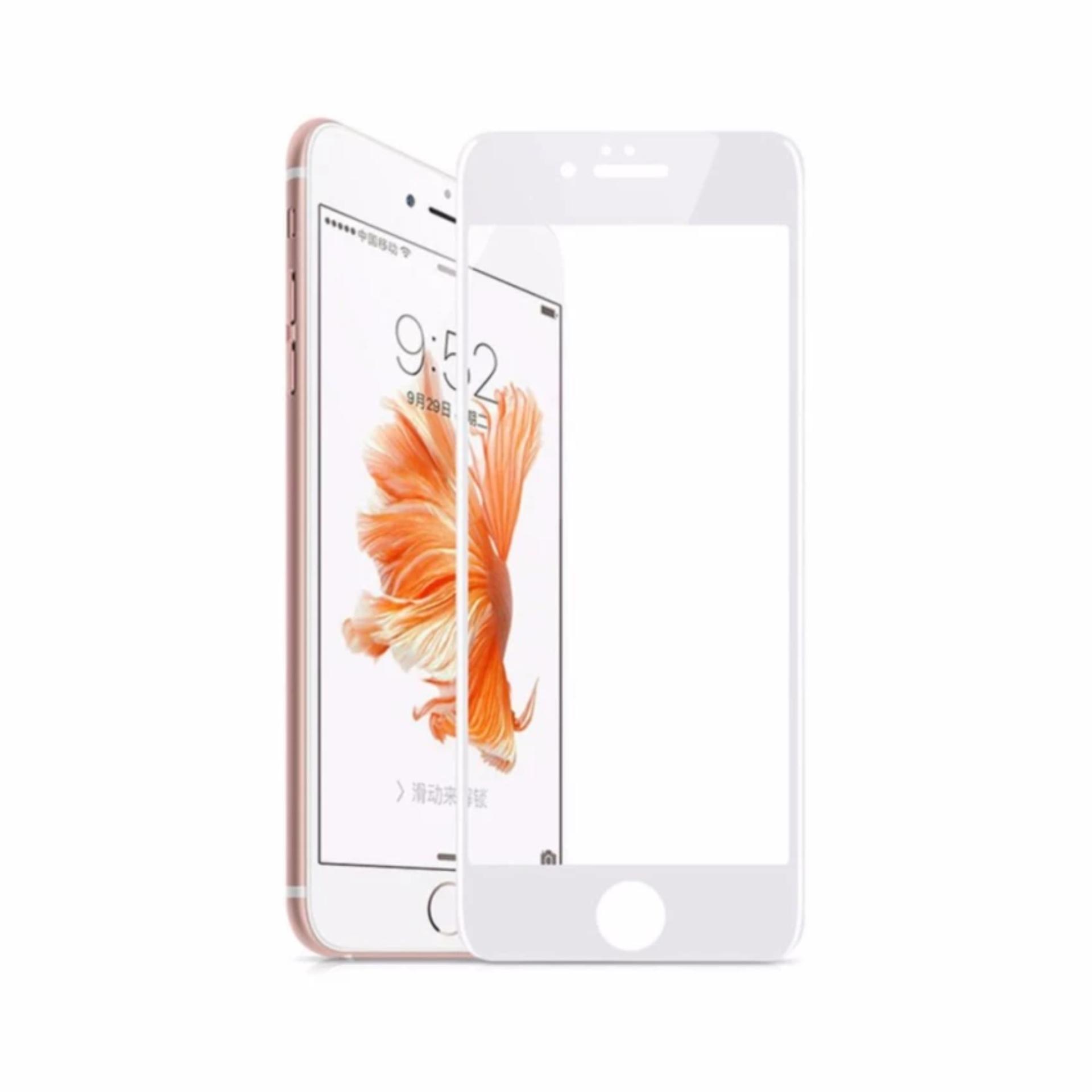 Kính cường lực Full màn hình cho iPhone 6 plus trắng