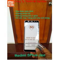 1 miếng cường lực Xiaomi Redmi 5 Plus ( ĐEN) full màn 5D keo toàn màn hình, không chấm liti, không loang dầu