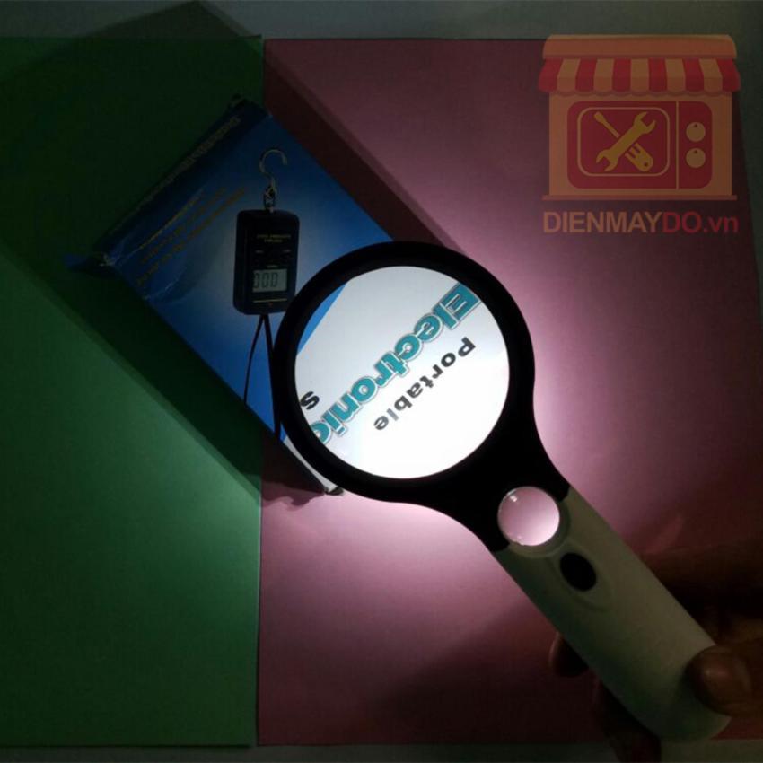 Kính lúp cầm tay có Led Magnifier siêu sáng size to, Zoom loại tốt nhất x10,x20 lần.