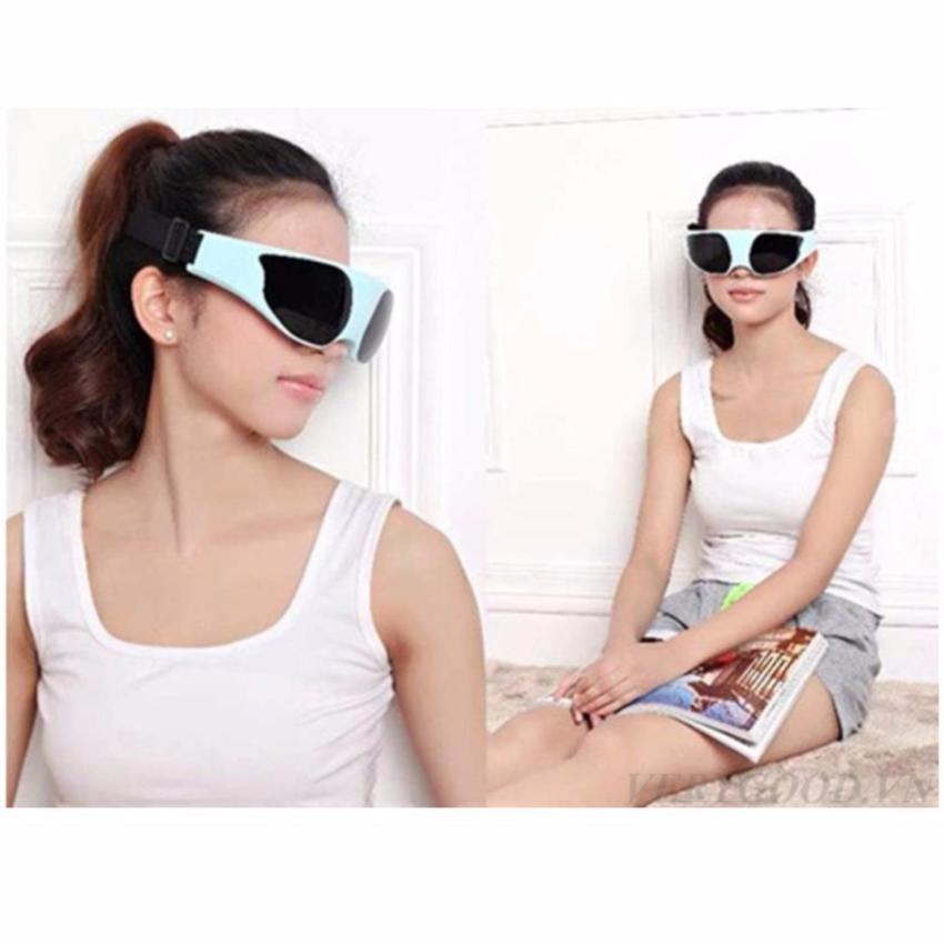 Hình ảnh Kính massage mắt Beauty TS-0816 (Xanh) + Tặng đèn led usb