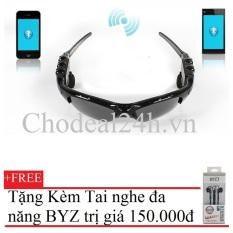 Kính mát kiêm tai nghe Bluetooth (Đen) + Tặng Tai Nghe BYZ S389