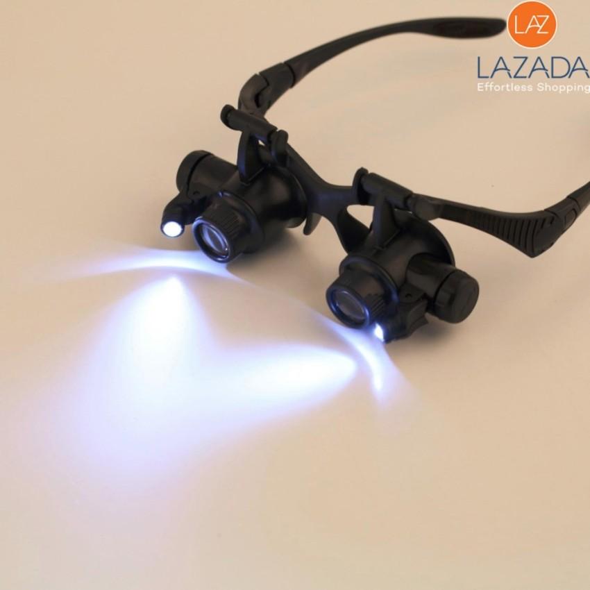 Hình ảnh Kính phóng to, Kính phóng to 3d - Kính lúp sửa chữa cao cấp gắn đèn LED siêu sáng, tặng kèm 3 cặp kính phóng đại, giảm giá cực sốc tại TOP-VERSION