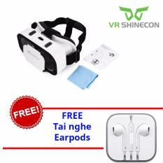 Kính thật tế ảo 3D Vr Box Shinecon + tai nghe Earpods