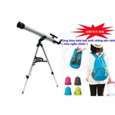 Kính thiên văn khúc xạ D60F700 kèm chân đế và phụ kiện (Bạc) tặng kèm Balo học sinh chống sờn rách