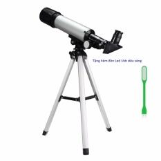 Kính thiên văn khúc xạ OEM F36050 (Bạc) tặng kèm Đèn led usb siêu sáng