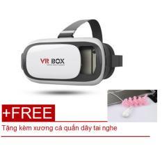 Kính thực tế ảo 3D – Tặng kèm xương cá quấn dây điện thoại – VR Box thế hệ thứ 2