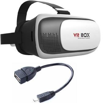 Kính thực tế ảo VR Box thế hệ thứ 2 và cáp OTG xem phim từ USB