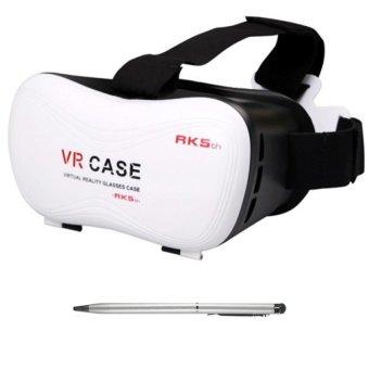 Kính xem phim 3D VR-Case thế hệ 5 HS (Trắng đen) + 1 bút cảm ứng