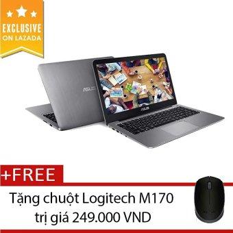 Laptop Asus E403NA 14 inch (Xám) - Hãng phân phối chính thức + Tặngchuột Logitech M170 (Đen)