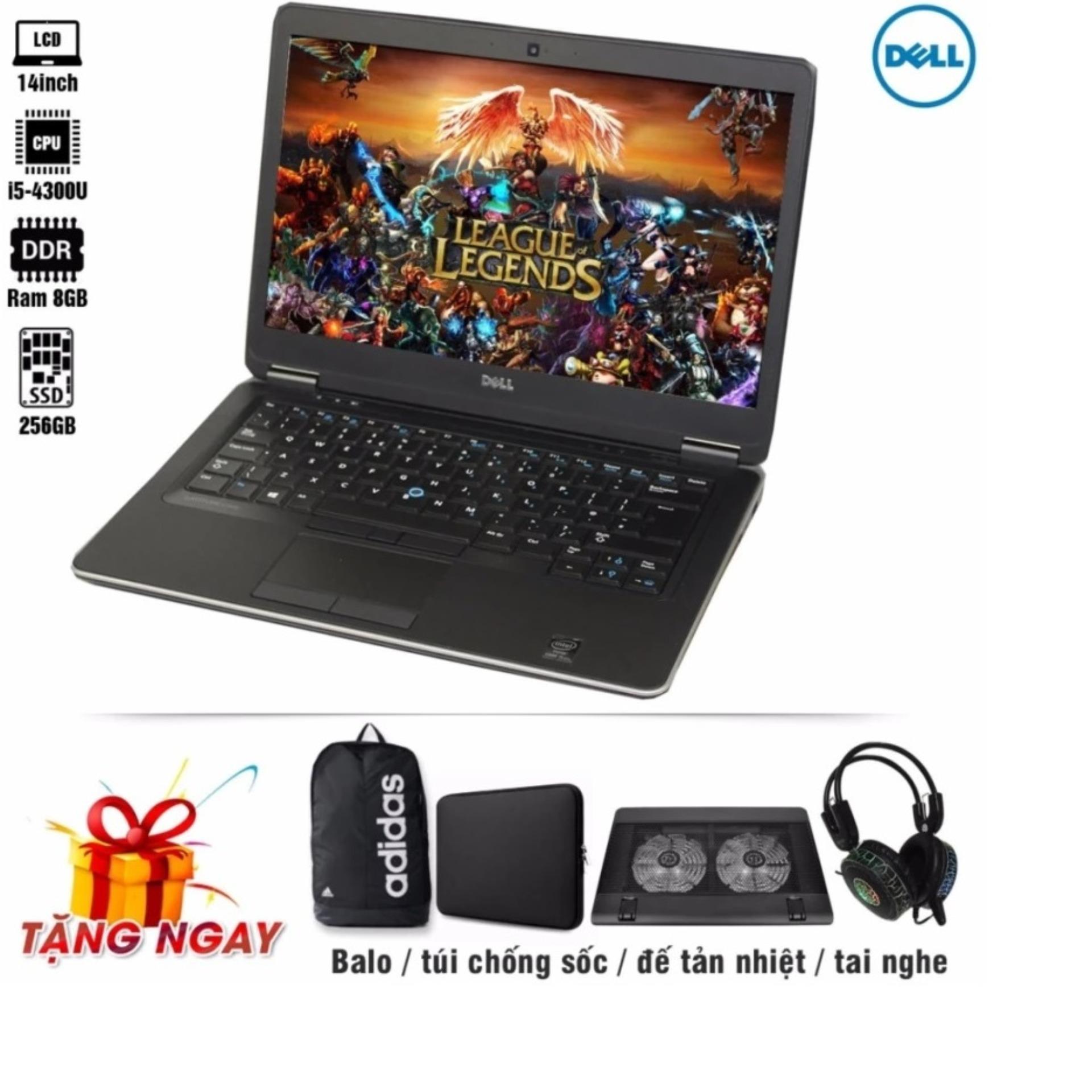 Laptop Dell Latitude 7440 i5-4300U 14inch, 8GB, SSD 240GB (Tặng Balo, túi chống sốc, đế tản nhiệt, tai nghe) -...