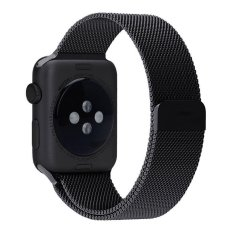 leegoal Apple Watch Band Magnetic Clasp Mesh Loop Milanese Stainless Steel Replacement Strap For Apple Watch Sport Edition 42mm Series 1/2/3/4- intl
