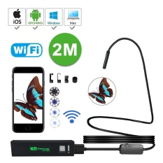 leegoal Wireless Endoscope Inspection Camera, IOS Android USB Borescope,2.0 Megapixel 720P HD Flexible Semi-rigid Borescope Camera, Wifi Snake Camera Phone PC – 2M – intl