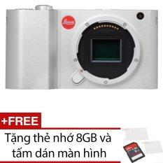Leica T Mirrorless Digital Camera 16.5MP Body (Bạc) + Tặng 1 thẻ nhớ 8GB và 1 miếng dán màn hình