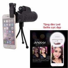Len Zoom Camera điện thoại X40 Panda SIÊU XA SIÊU NÉT + Tặng kèm 1 đèn Led tròn Selfie cực đẹp