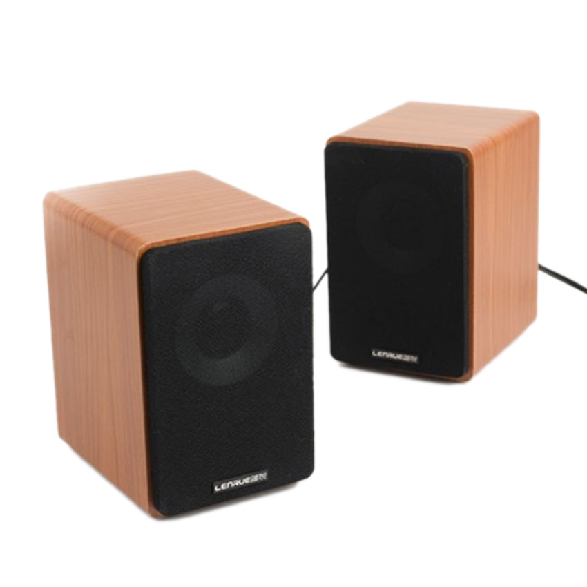 Chi tiết sản phẩm Lenrue V3000 – Loa mini (Nâu gỗ)