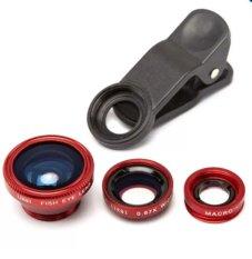 Lens chụp ảnh 3 trong 1 cho điện thoại (Đỏ)