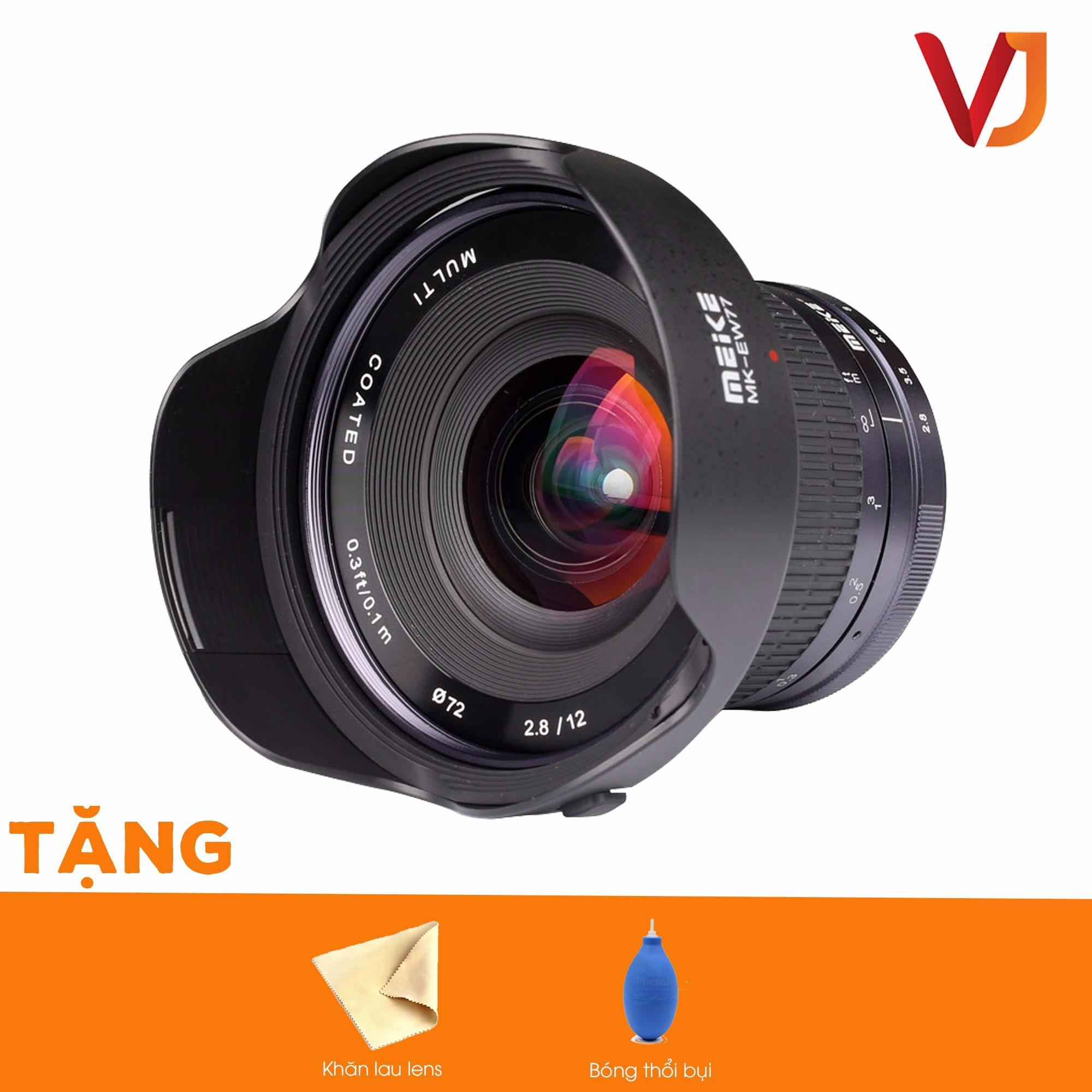 Lens MF Meike 12mm f2.8 ngàm Fujifilm FX- Bảo hành 6 tháng + Tặng bóng thổi bụi + Khăn lau...