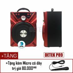Loa Bluetooth Daile P88 (P89) tặng kèm micro có dây