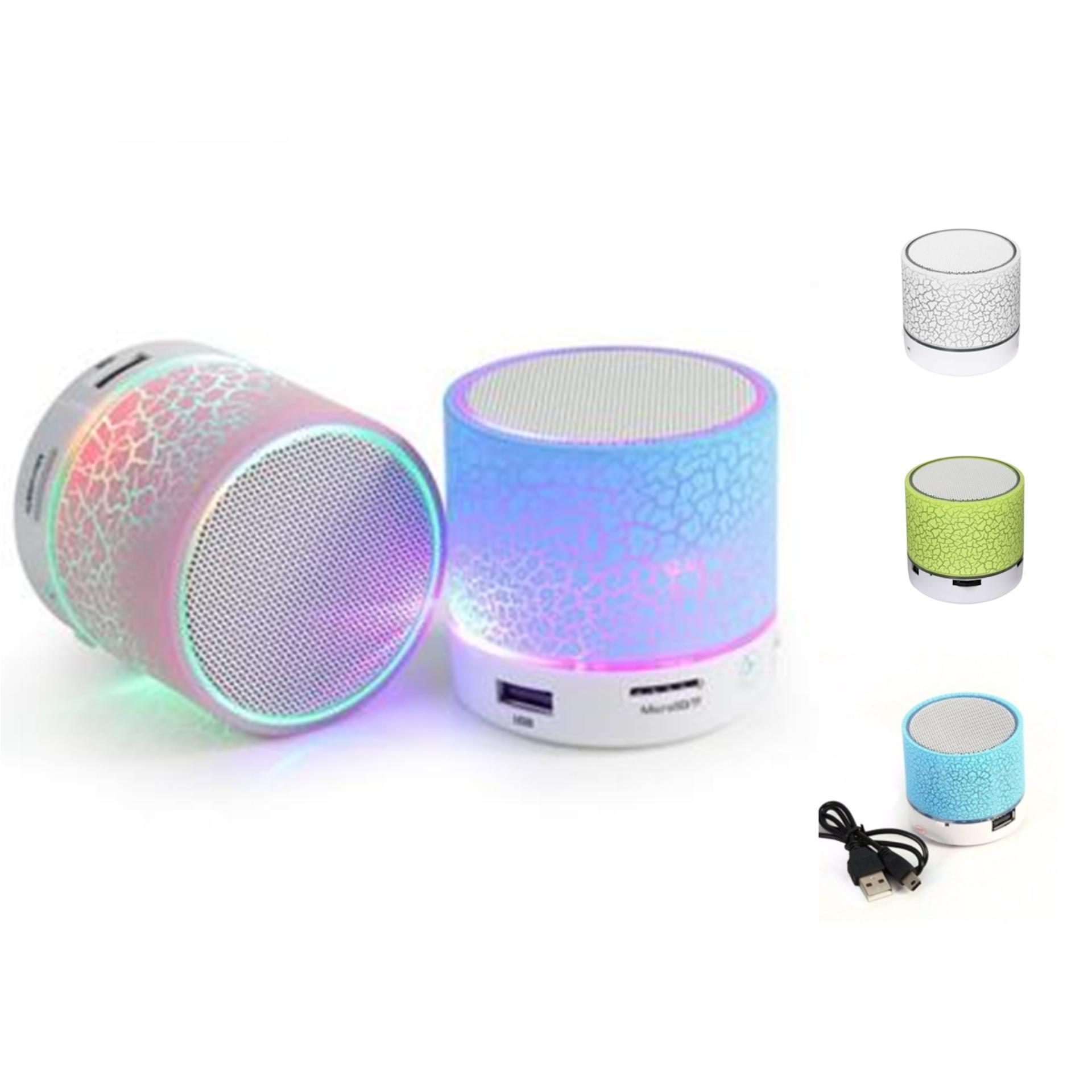 Loa Bluetooth HLD-600 mini có đèn LED nháy theo nhạc cực sành điệu (Mầu ngẫu nhiên)