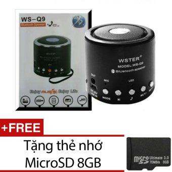 Loa Bluetooth mini Wster WS-Q9 (Đen) + Tặng thẻ nhớ MicroSD 8GB - 8839175 , WS489ELAA1KGE9VNAMZ-2561570 , 224_WS489ELAA1KGE9VNAMZ-2561570 , 290000 , Loa-Bluetooth-mini-Wster-WS-Q9-Den-Tang-the-nho-MicroSD-8GB-224_WS489ELAA1KGE9VNAMZ-2561570 , lazada.vn , Loa Bluetooth mini Wster WS-Q9 (Đen) + Tặng thẻ nhớ MicroSD 8