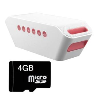 Loa Bluetooth SUNTEK S204 (Trắng) + Thẻ nhớ 2GB