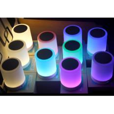 Loa bookshelf bluetooth kiêm đèn ngủ có 5 chế độ màu tự chọn