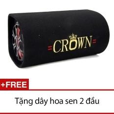 Loa Crown cỡ số 8 kiểu tròn (Đen) + Tặng 1 dây hoa sen 2 đầu