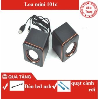 Loa di động 101C (Đen)+ đèn led usb+ quạt cánh rời usb
