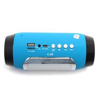 Loa di động 2GOOD C-65 Bluetooth (Xanh phối đen)
