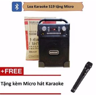 Loa di động karaoke S19 - công suất 500w- Bluetooth tặng Micro