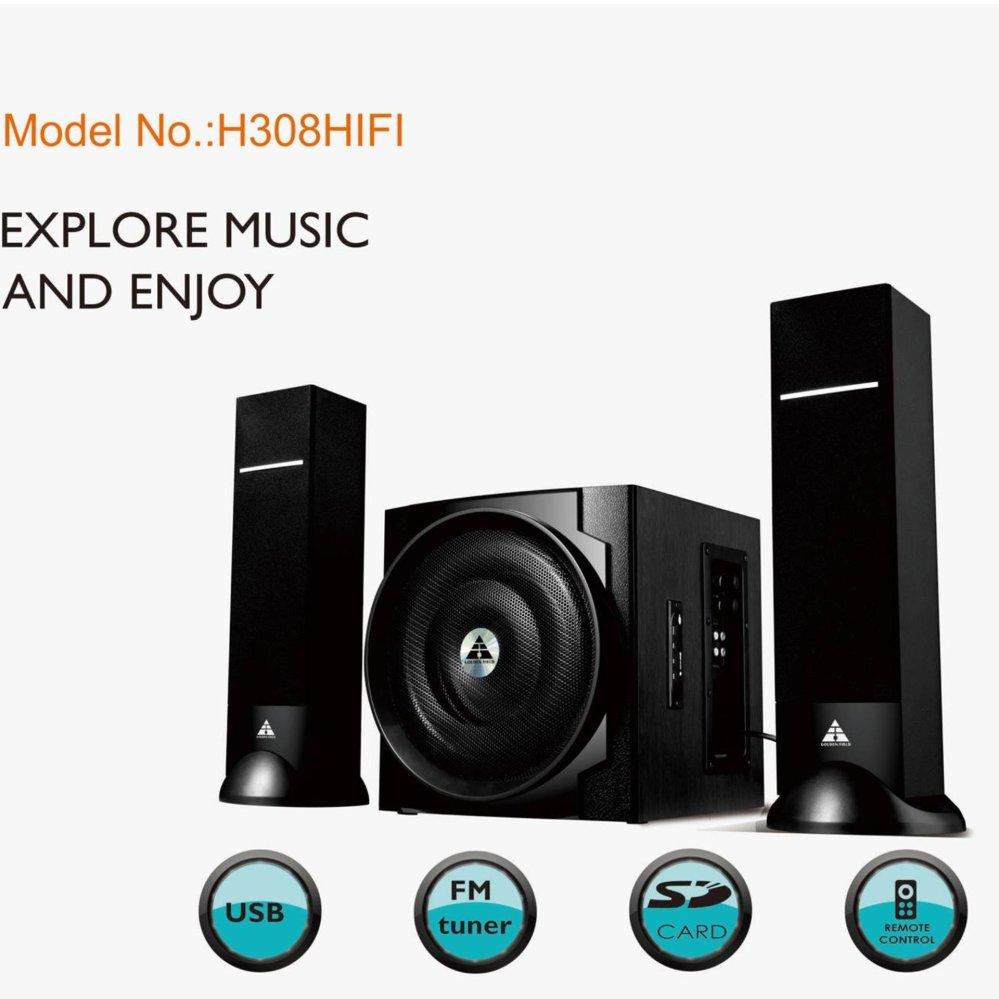 Nơi Bán Loa Golden Field H308 HIFI/2.1(usb, Bluetooth,SD,FM)
