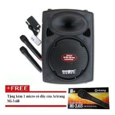 Giá Sốc Loa kéo Bluetooth Temeisheng DP-2305F , 2 Micro + tặng 1 Micro có dây Arirang 3.6B