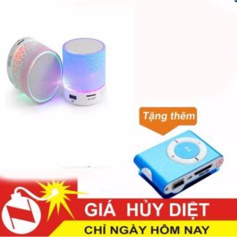 Loa mini bluetooth HLD-600 led nháy theo nhạc (Trắng) tặng máy nghe nhạc mp3