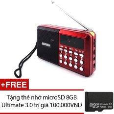 Loa nghe nhạc kèm radio Craven CR-26 (Đỏ) + Tặng 1 thẻ nhớ microSD 8GB – Nhất Tín Computer