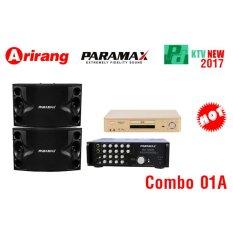 Chỗ bán Loa Paramax P 500 + Amply Paramax SA 1000 New + Đầu Arirang AR 36 (Đen)